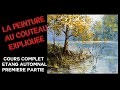Étang à l automne - Cours complet de peinture au couteau - 1 ere partie