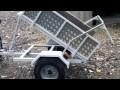 remorque quad basculante avec un treuil 12V