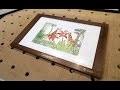 Fabrication d'un cadre en bois avec titre en laiton pour encadrement d'aquarelle