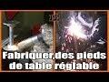 Soudure / Fabriquer des pieds de table réglable / On Bricole #7