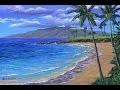 Peindre La Plage Tropicale. Peinture Continue Sans Interruptions