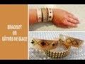 DIY bracelet en bois avec bâtons de glace facile
