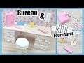 BUREAU FOURNITURES OFFICE SUPPLIES MINIATURE DOLL HOUSE MAISON POUPÉE