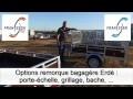 Gamme de Remorques ERDE bagagere simple et double essieu avec Options - FRANSSEN REMORQUES