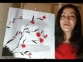 Fleurs abstraites - Speed painting acrylique