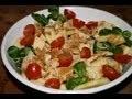 Salade poulet facile pommes noix sauce vinaigre de framboise
