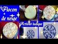Flocon de neige : Bricolage de Noël un tampon DIY en 10  minutes