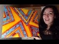 Tutoriel Peinture Débutant : Fond Acrylique et Ruban Adhésif