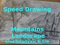 [Speed Drawing] Mountains Landscape | Paysage de montagne [Dessin]