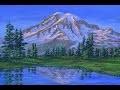 Peindre la montagne de neige et ses glaciers. Video complete expliquee