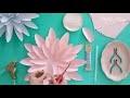 DIY tutoriel fleur en papier géante dahlia paper flower tutorial