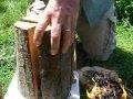 Torche suedoise alumée avec la bouteille d'eau.