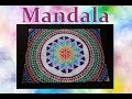 Mandala Fleur de vie ! Peinture acrylique. Speed Drawing !