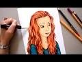 Dessin feutre alcool PROMARKER - Portrait - Draw Léa