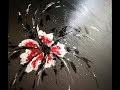 Fleur Abstraite au Couteau - Speed Painting Acrylique