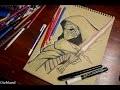 Comment dessiner Kylo ren au papier kraft - Star Wars Le Réveil De La Force