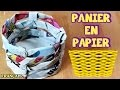 Bricolage Facile: Comment Faire Panier en Papier | How to Make a Paper Basket | DIY French Videos