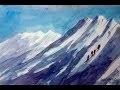 Vidéo 69: Peindre la montagne  à l'aquarelle sans dessiner