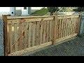 Pallet Wood Driveway Gates Cancelas en madera de palets Portail en bois de palette