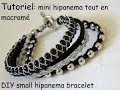 "bracelet inspiration ""mini"" hipanema tout en macramé DIY small hipanema bracelet"