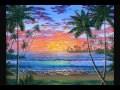 Cours de peinture gratuits Couchers du soleil paysage claires de lunes leçons par Ben Saber