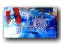 Tableau contemporain abstrait peinture moderne décoration artiste OSSO