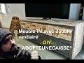 Meuble avec double vestiaire By ADOPTEUNECAISSE® DIY MAKER