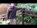 Barrière bois construction - Building wooden fence Video