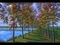 Peindre Le Paysage D'automne, Video Rapide 4k Ultra Haute Definition