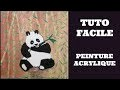 PANDA FACILE DEBUTANT - PEINTURE ACRYLIQUE