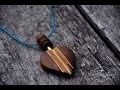 wood design: fabrication d'un collier en bois.