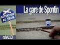 Construction du réseau Ho la gare de Spontin : La pose des voies (Episode 4)