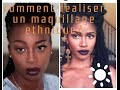 comment réaliser  un maquillage ethnique ? inspiration Simone Battle (RIP)