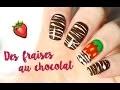 � Un nail art au chocolat, avec la technique du Sugar Spun