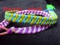 Bracelet tréssé scoubidou (tuto francais)