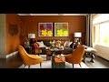 décoration de salon marron orange