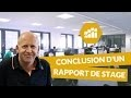Que mettre dans la conclusion d'un rapport de stage - Marketing - digiSchool