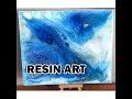 TUTO RESINE ART ACRYLIC RESINE TABLEAU RESINE CRYSTAL DIAMOND