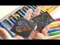 Carte à gratter à fabriquer avec des pastels gras ou des feutres