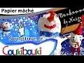 DIY BONHOMME de NEIGE en papier mâché | Décoration de Noël - activité artistique pour enfant
