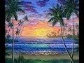 Comment Peindre Le Coucher Du Soleil Sur La Plage Tropicale Cours Complet