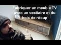 Comment fabriquer un meuble TV avec vestiaire et bois de récup by Adopteunecaisse MAKER