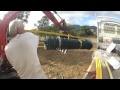 dérouleur de grillage artisanal pour clôture