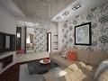 decoration salon avec papier peint