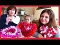 Coeur en papier crepon saint valentin