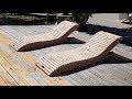 fabrication d'un transat bois