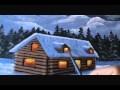 Peindre un paysage de neige 1/3 cabane chalet de montagne carte Noël lecon de peinture sur toile