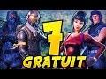AVOIR LES 7 SKINS GRATUITS + 10 SKINS CACHÉS (Fortnite Battle Royale)