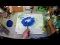 Finition des côtés de toile galerie avec de la colle,de l'acrylique et de la poudre pour bébé.