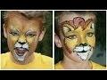 Maquillage de lion (2 versions) - Tutoriel maquillage artistique des enfants